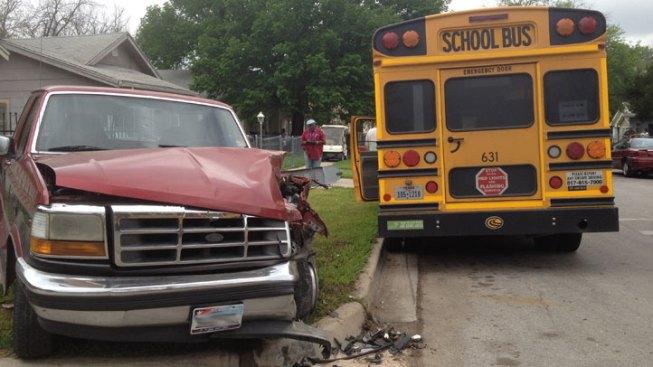 School Bus Driver Loses Consciousness, Crashes