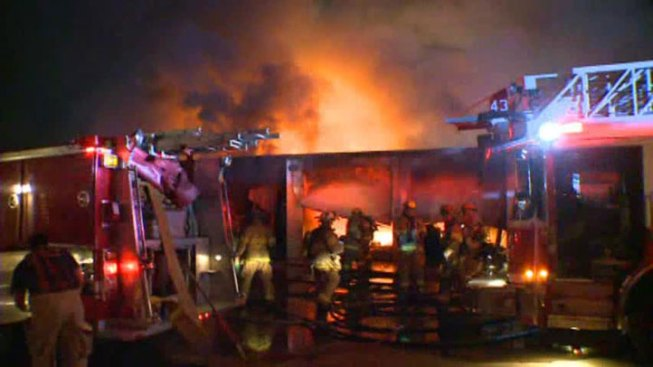 Fire Consumes Self Storage Facility