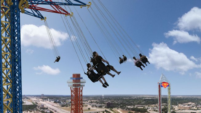 Six Flags Building World's Tallest Swing in Arlington