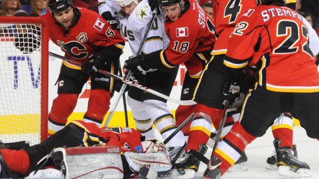 Flames End Stars' 4-Game Win Streak