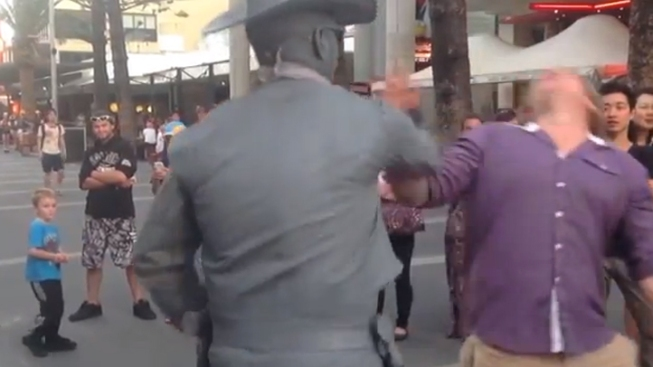 Investigation Launched Against Street Performer Who Punched Heckler
