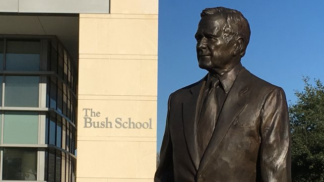 Texas A M Remembers George H W Bush Before Burial In College