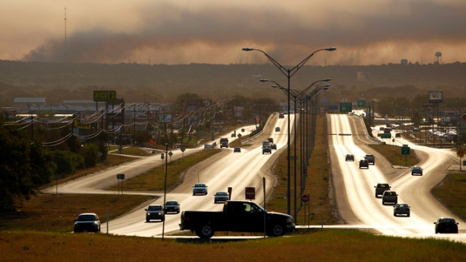 Crews Make Gains Against Raging Blaze Near Austin