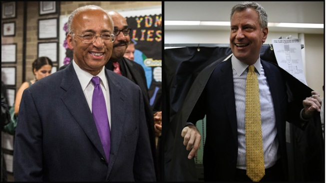 De Blasio Leads Democrats, May End Up in Runoff to Face GOP Winner Joe Lhota for NYC Mayor