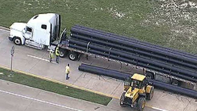 Truck Driver Killed After Being Crushed by Pipes
