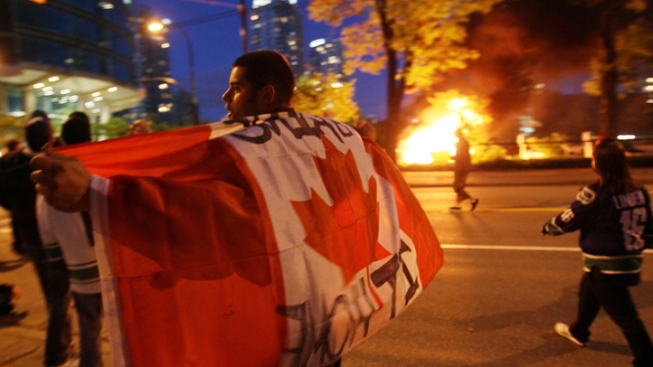 Rioters Run Wild in Vancouver after Cup Loss