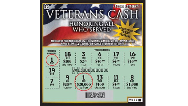 Scratch-Off Game Benefits Texas Vets