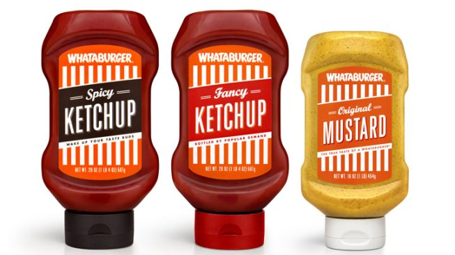 Whataburger Selling Ketchup, Mustard in H-E-B, Central Market Stores
