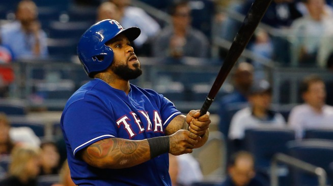Rangers' Prince Fielder in Home Run Derby