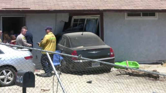 8-Year-Old Boy Drives Car Into Home in California