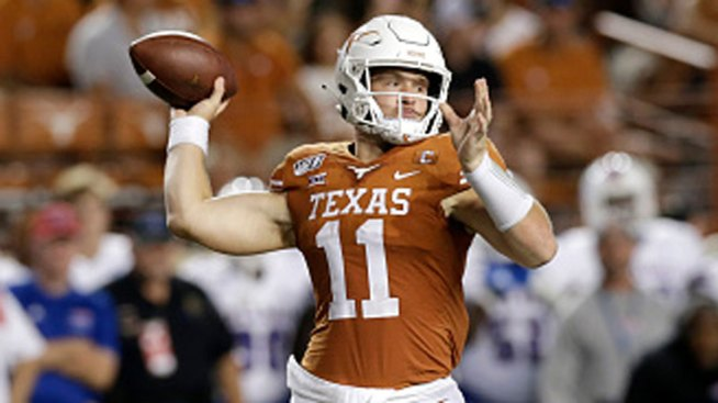 size 40 14002 7f9de QB Sam Ehlinger Spreading the TDs Around in Texas Offense ...