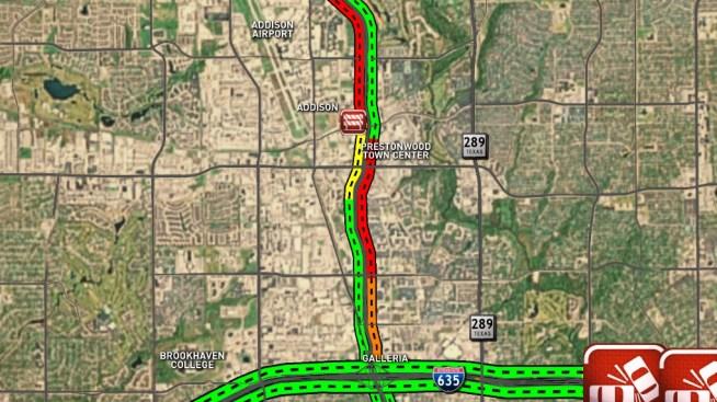 Second Crash Closes More Lanes of Dallas North Tollway Thursday