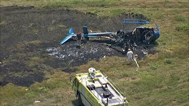 Three Walk Away from Fiery Chopper Crash