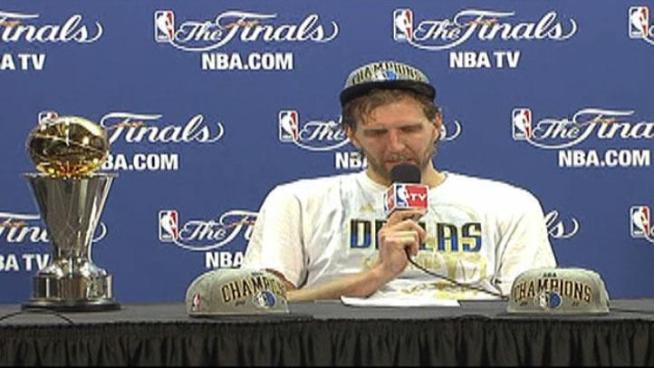 NBA Finals MVP Dirk Nowitzki talks about winning the NBA Champions.