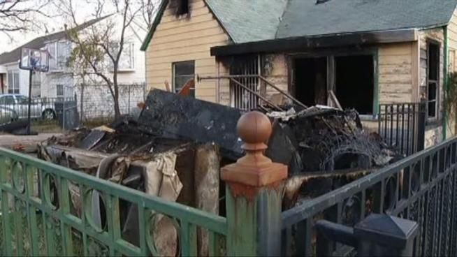 Three generations of family members were displaced by a house-destroying fire.