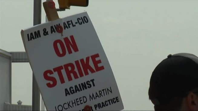 Nearly 3,600 machinists at Lockheed Martin remain on the picket line five weeks after refusing the company's last offer.