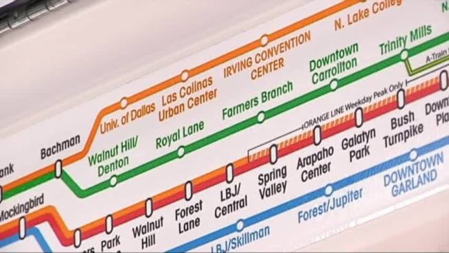 The new Orange Line of the DART light rail service through Irving is set to open on Monday.