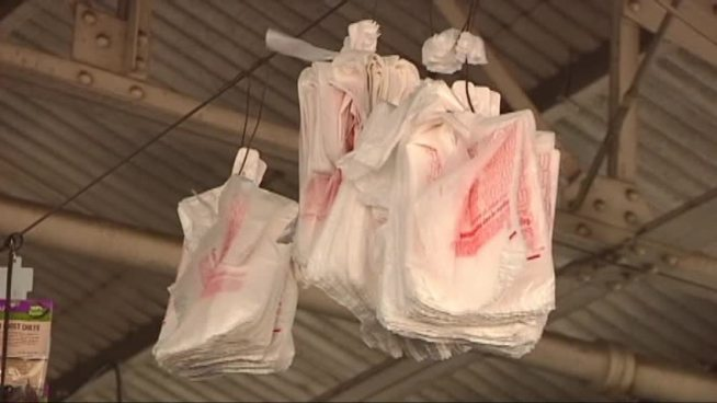 Dallas city leaders are scheduled to discuss banning plastic bags in stores.