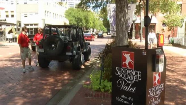 Construction in Fort Worth's Sundance Square has lead to a new valet parking program to ease visitor's parking woes.