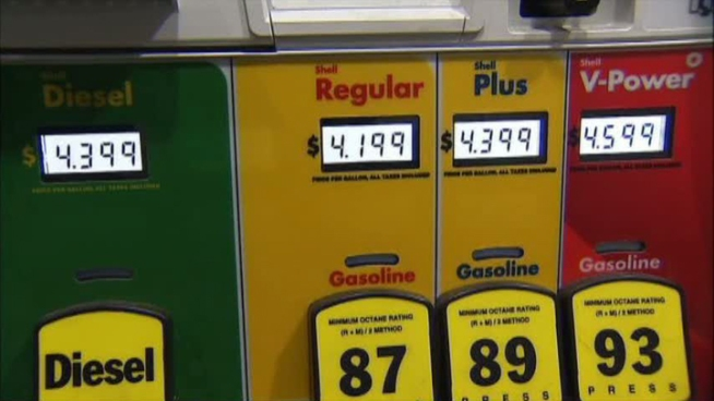 Gas stations are rising, with one station in Dallas charging $4.19 per gallon for regular unleaded.