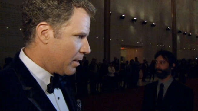 Comedian Will Ferrell received the Mark Twain award at the Kennedy Center on Sunday night.  He told reporters that Ron Burgundy would likely not have been allowed to attend the event.