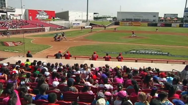 Students from Grand Prairie ISD filled the stands at the Air Hogs game on Tuesday.
