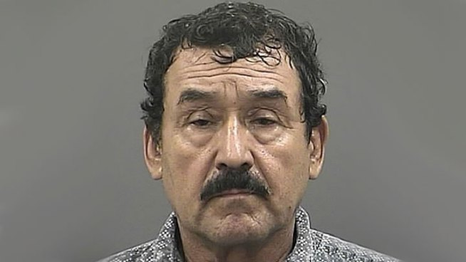 Police say 62-year-old Ambrocio Mata was caught twice with a boy, first in a locked janitor's closet by another janitor, and later in a classroom by yet another janitor.