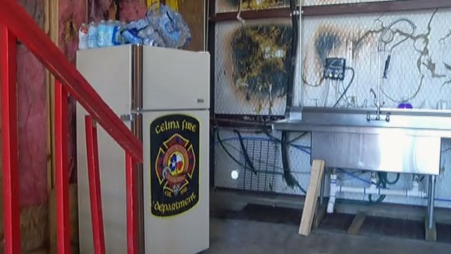 Firefighters in Celina had a close call when a dryer fire engulfed the fire station in flames.