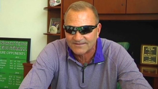 UNT Coach's Sunglasses Inspires Students
