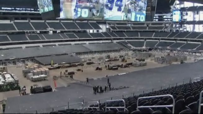 Dallas Cowboys Stadium in Arlington is preparing to host the NCAA Sweet Sixteen and Elite Eight this year.