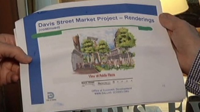 The Davis Street Market would occupy a whole square block of vacant land along Davis between Van Buren and Vernon.