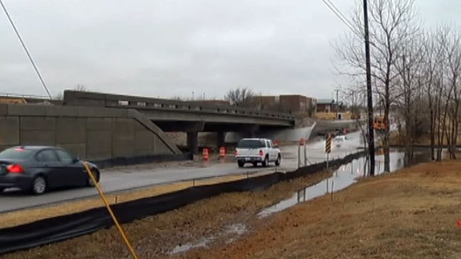 Cromwell Marine Creek Road in Fort Worth is prone to flooding but a new $1.2 million dollar bridge will solve the problem and should be open by this spring.