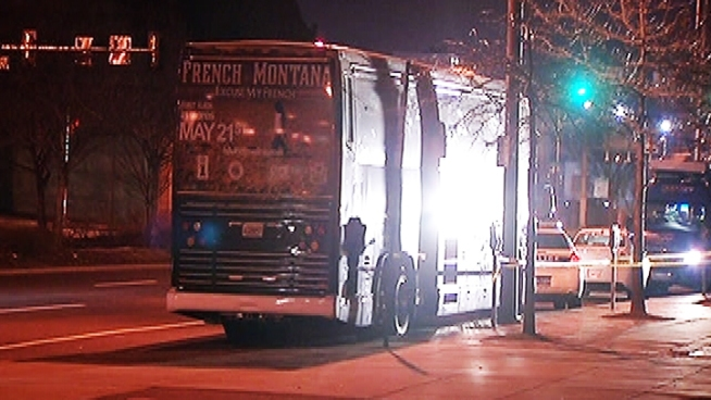 Police say that shooting happened outside of Rapper French Montana's tour bus last night.