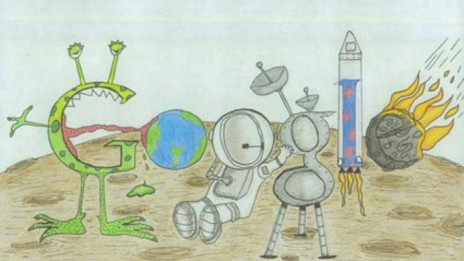 Piper Fisk is one of 50 state finalists in the Doodle 4 Google contest and she's on her way to New York City to find out if she's the national winner.