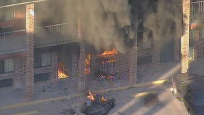 Fire Breaks Out at Garland Motel