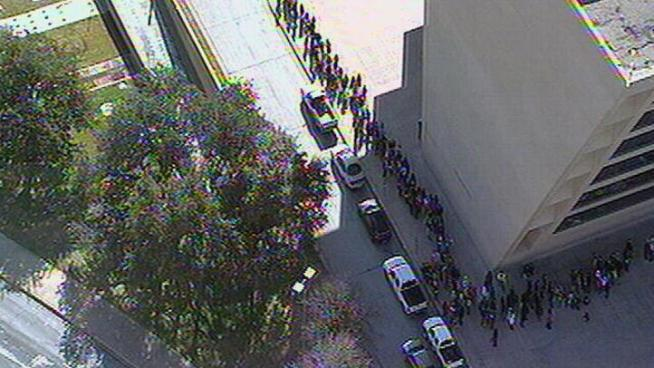 Thousands lined up around Dallas City Hall for Khloe Kardashian Odom's toy drive benefiting Children's Medical Center of Dallas.