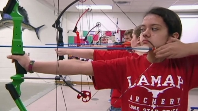 Lewisville's Lamar Middle School team is headed to the National Archery in the Schools Program Nationals in Kentucky this weekend.
