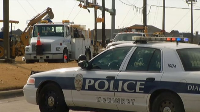 First responders in McKinney say disaster was averted Monday when a gas line ruptured on Stonebridge Drive near Eldorado Parkway Monday.