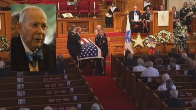 Medal of Honor recipient Col. James L. Stone was laid to rest in Arlington Wednesday. He died at age 89 after a long bout with cancer.