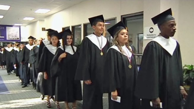 Graduation is a reality for one group of high school students thanks to the Mesquite Academy.