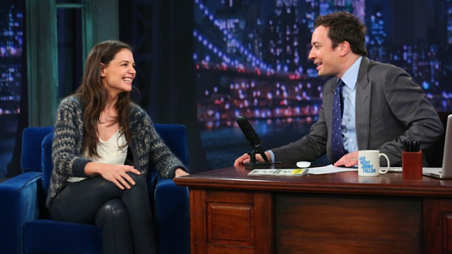 "Katie Holmes Talks ""Dawson's Creek"" Reunion on ""Fallon"""