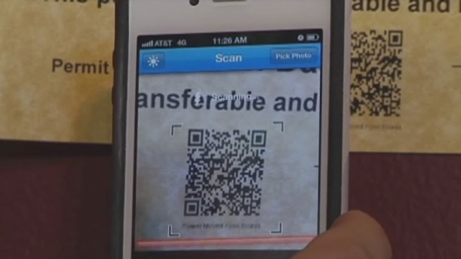 Flower Mound has printed QR codes on all of its health permits so diners with smartphones can get quick access to inspection scores.