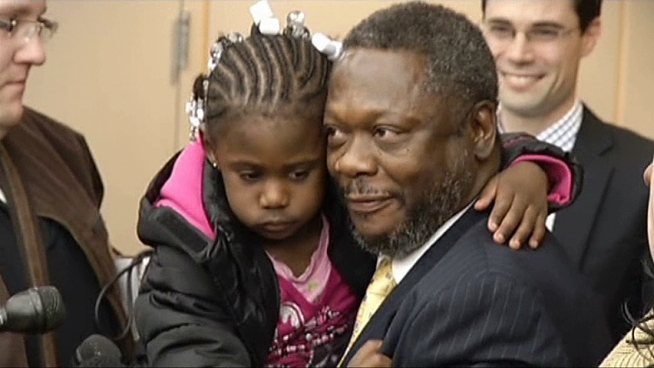 After 31 years in prison, a man is released after being wrongfully convicted