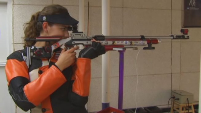 TCU Junior, Sarah Scherer, will carry America's hopes for gold in the 10-meter air rifle competition at this summer s London Olympics.