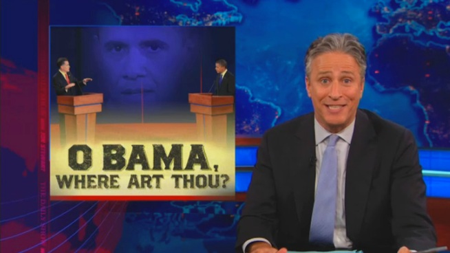Stewart: U.S. Agrees on Obama's Bad Debate Performance