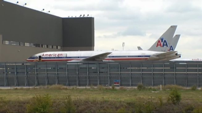 The Transport Workers Union says American Airlines employees are expecting pink slips beginning this week -- but AA says many of those employees may have other job opportunities with the company.