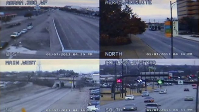 The City of Arlington plans to use webcams to keep residents informed of road closures during a month-long railroad intersection construction project.