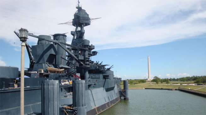 Battleship Texas Springs a Leak