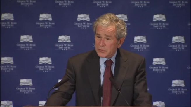 Former President George W. Bush says as the U.S. debates immigration policy, he hopes