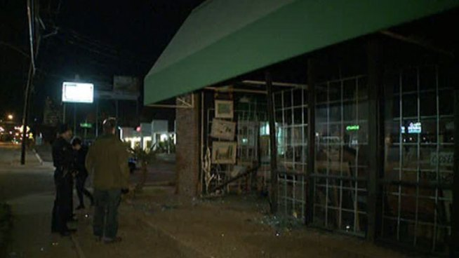 Driver Crashes Into Store, Drives Off